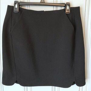 LC Lauren Conrad black mini pencil skirt 12